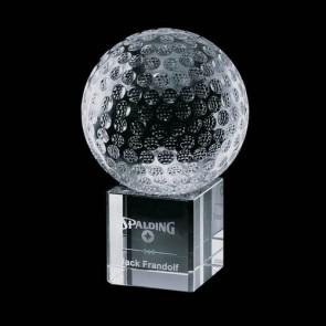 Bellevue Optical Crystal Golf Award - Optical 2-3/8 Diam