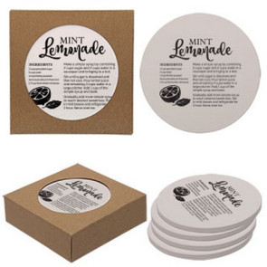 Round Absorbent Stone Coaster 4 Pack