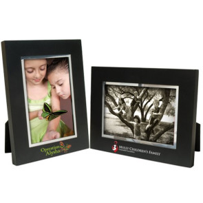 5 x 7 Black Wood Frame w/Silver Bevel