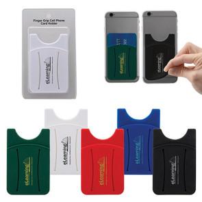 Finger Grip Cell Phone Card Holder w/Packaging