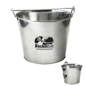 5 Qt Galvanized Ice Bucket w/Bottle Opener