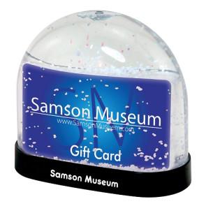 Gift Card Snow Globe with Custom Imprint