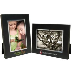 4 x 6 Black Wood Frame w/Silver Bevel