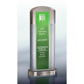 Ambient Green Optical Crystal Award