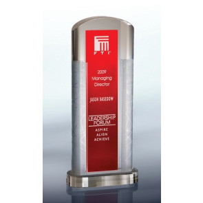 Ambient Red  Optical Crystal Award