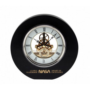 Ambassador Black Marble Clock