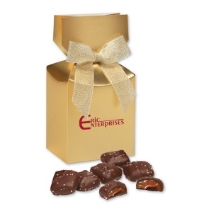 Chocolate Sea Salt Caramels in Premium Delights Gift Box