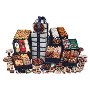 Ultimate Office Party Gourmet Food Gift Tower - FREE SHIPPING