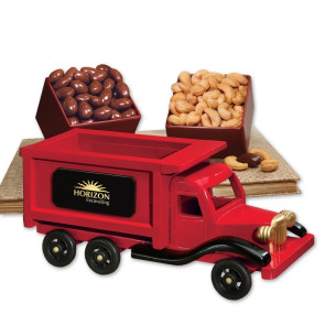 1950-Era Dump Truck with Chocolate Almonds & Extra Fancy Jumbo Ca