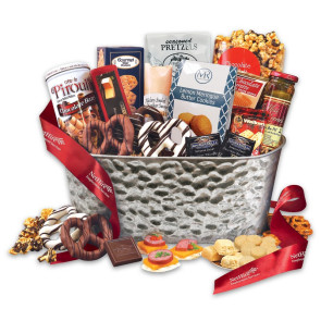 Epicurean Feast Gourmet Gift Basket - Red Ribbon