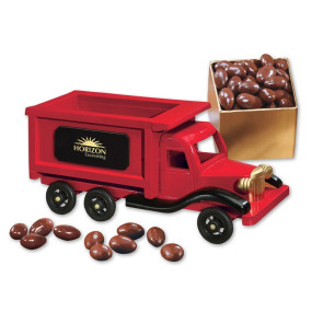 1950-Era Dump Truck with Chocolate Covered Almonds
