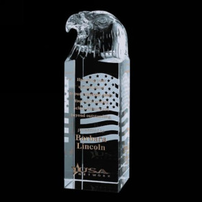 Stratton Eagle Award - Optical Glass 6in. High