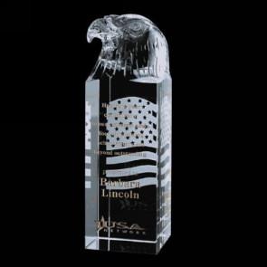 Stratton Eagle Award - Optical Glass 7in. High