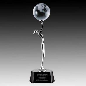 Aphrodite Globe Award - Black Chrome 12 in.