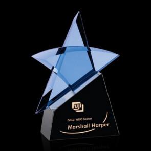 Benita Star Award - Blue/Black 7 in.