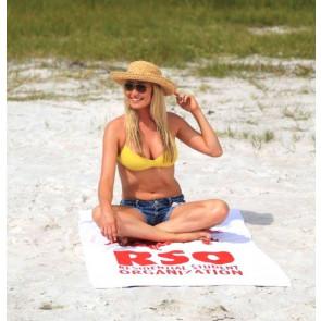 Pro 1 Select Midweight White Beach Towel - RUSH
