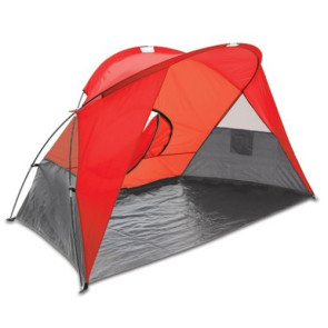 Cove Sun Shelter-Red w/grey accents