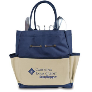 Garden Tote Large-Navy With Cream With 3 Pc Tools
