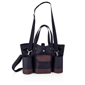 Wine Country Tote-Wine & Cheese Tote, (Black with Merlot Trim)