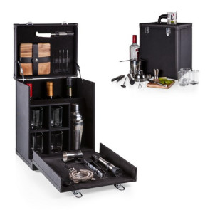 'Hamilton' Travel Cocktail Bar, (Black)