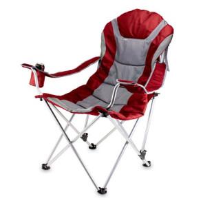 Reclining Camp Chair, (Dark Red)