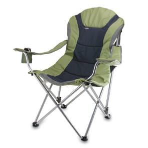 Reclining Camp Chair, (Sage Green with Dark Grey)