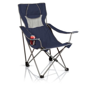 'Campsite' Camp Chair, (Navy with Grey)