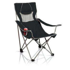 'Campsite' Camp Chair, (Black with Grey)
