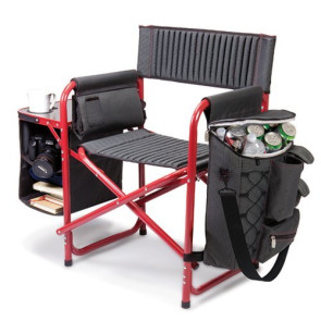 'Fusion' Backpack Chair with Cooler, (Dark Grey with Black)