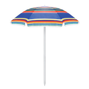 Portable Beach Umbrella, (Multi-Color Stripes)