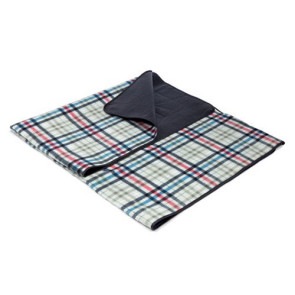 Blanket Tote - Carnaby Street Plaid With Grey Flap