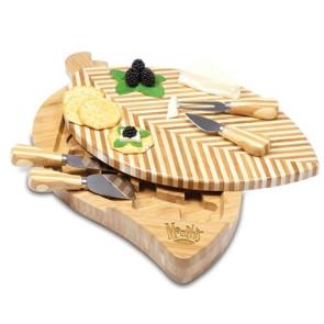Leaf Cutting Board And Tools Set w/ corkscrew