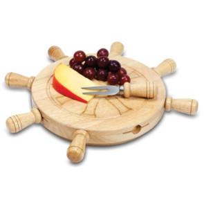 'Mariner' Lazy Susan Cheese Board & Tools Set