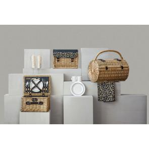 'Barrel' Picnic Basket, (Dahlia Collection)