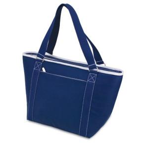 Topanga - Insulated Tote Bag -Navy W/White Trim