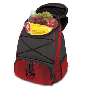 PTX Insulated Backpack-Red with dark grey trim