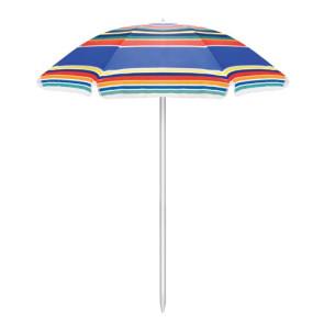 Portable Beach Umbrella, (Multi-Color Stripes)
