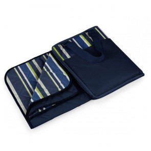 'Vista' Outdoor Blanket Tote, (Navy with Blue Stripes)