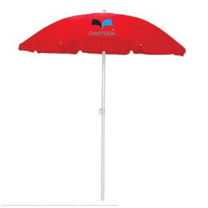 5.5' Portable Beach Umbrella, (Red)