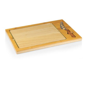 'Icon' Glass Top Serving Tray & Knife Set