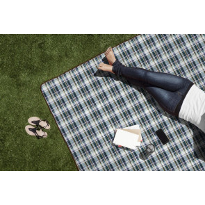'Blanket Tote XL' Outdoor Picnic Blanket, (English Plaid & Camel