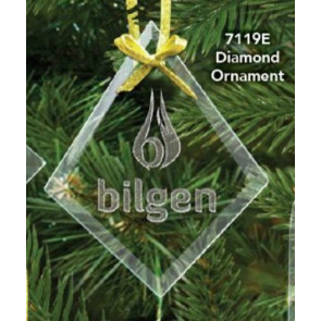 Diamond Etched Ornament 4 in.