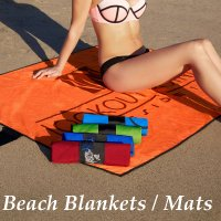 custom beach blankets and mats