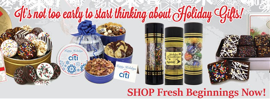 Fresh Holiday Cookies Gifts with Your Company Logo