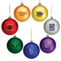 custom logo holiday ball ornamnets