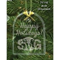 Custom Logo Crystal and Glass Holiday Ornaments