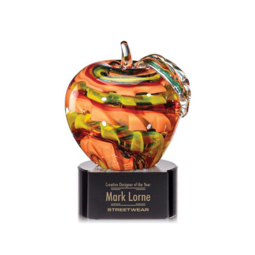 Picton Apple on Black Base - 4.5 in. High