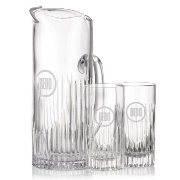 Carey Pitcher and 2 Hiball Glasses