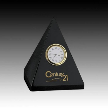 Marble Clock - 4 3/4   in. Pyramid