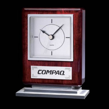 Falkland Clock - Rosewood/Chrome